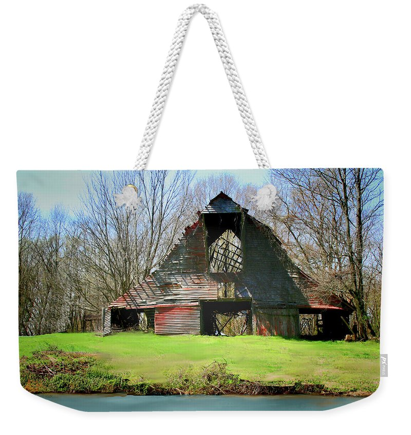 Barn Weekender Tote Bag featuring the photograph Memories by Bonnie Willis