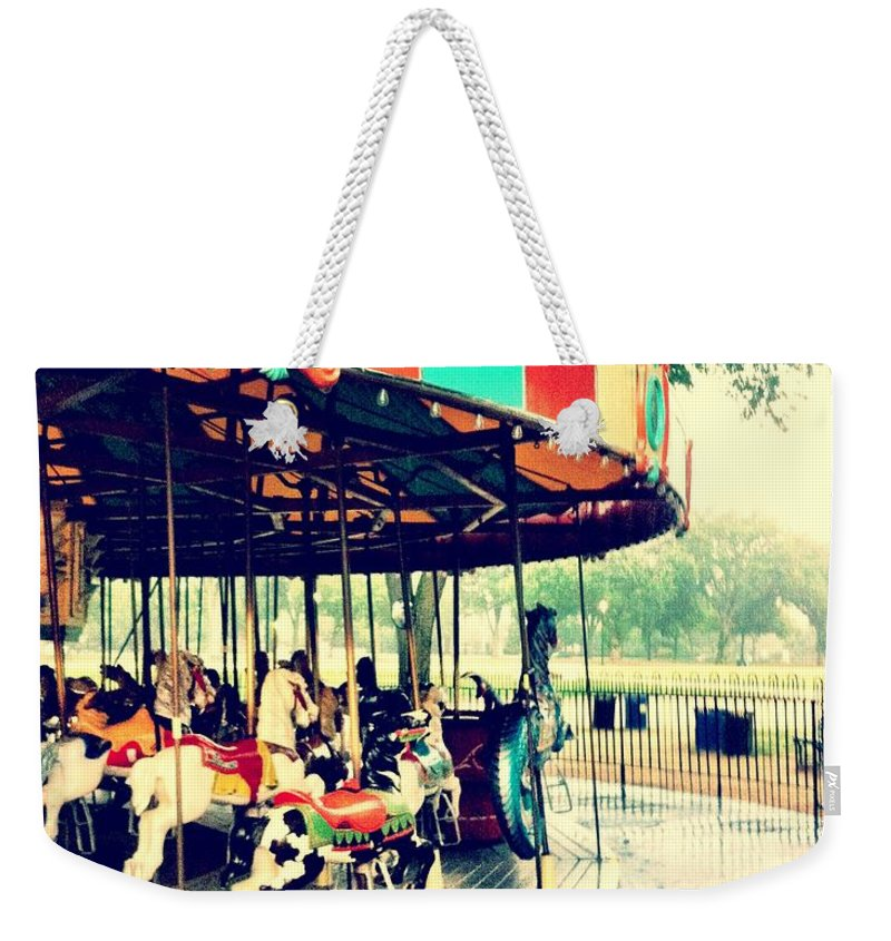 Carousel Weekender Tote Bag featuring the photograph Memories by Fareeha Khawaja