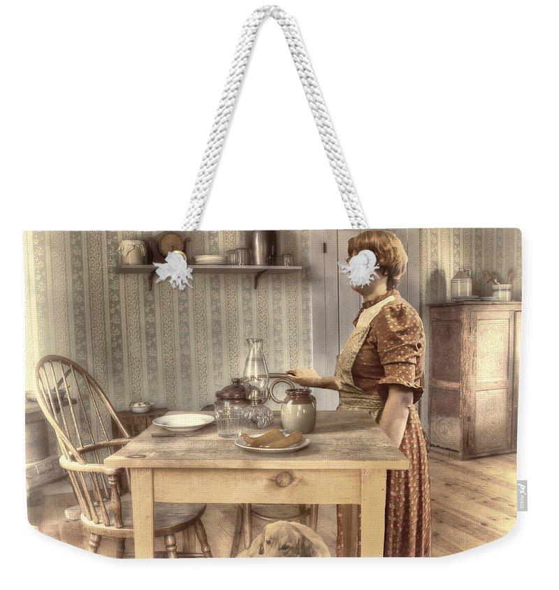 Ghost Town Weekender Tote Bag featuring the digital art Memories by Georgianne Giese