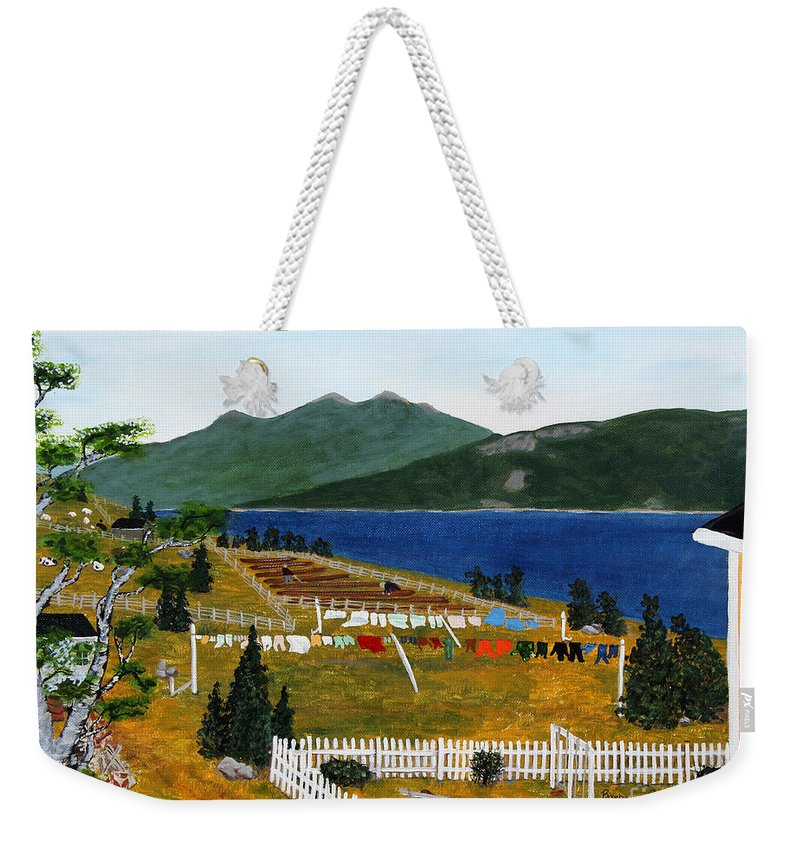 Barbara Griffin Weekender Tote Bag featuring the painting Memories Of Monday by Barbara Griffin
