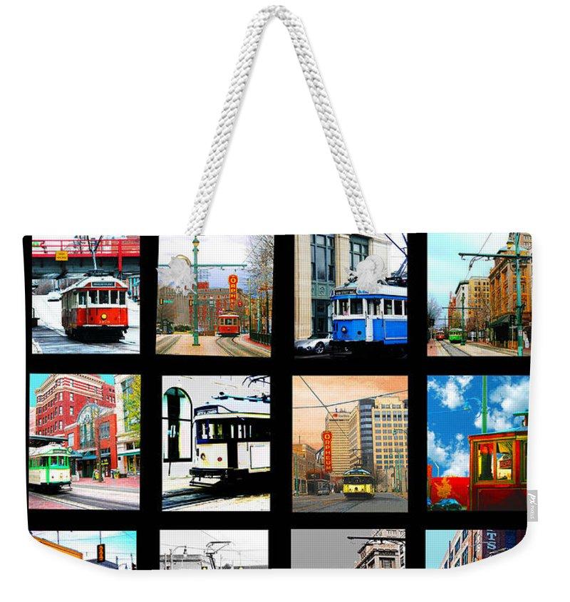 Cards Weekender Tote Bag featuring the digital art Memphis Trolleys by Lizi Beard-Ward