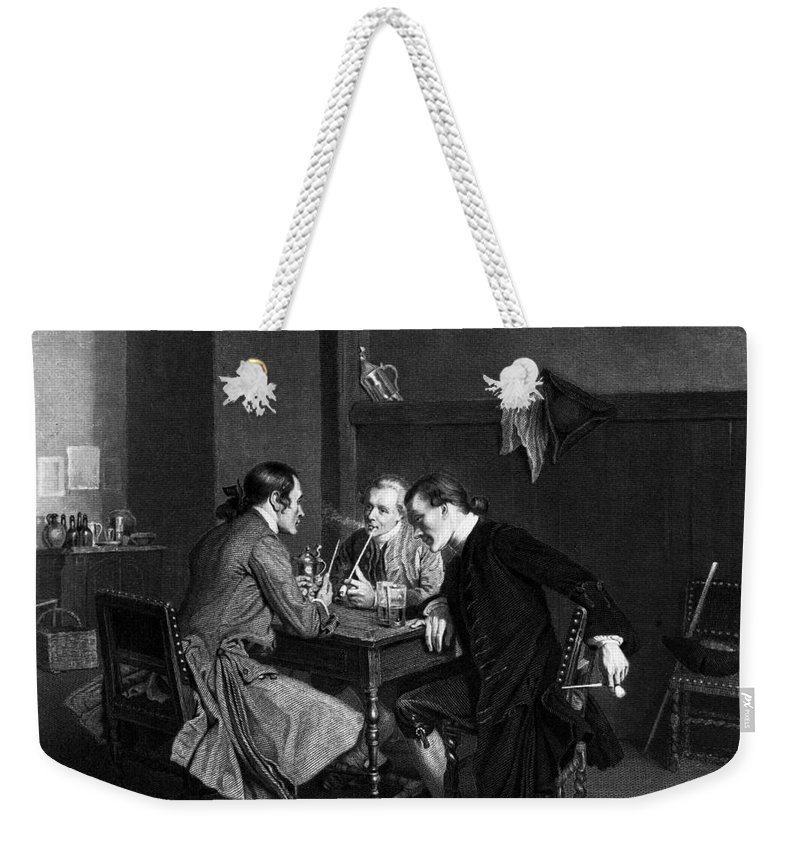 19th Century Weekender Tote Bag featuring the photograph Men Smoking by Granger