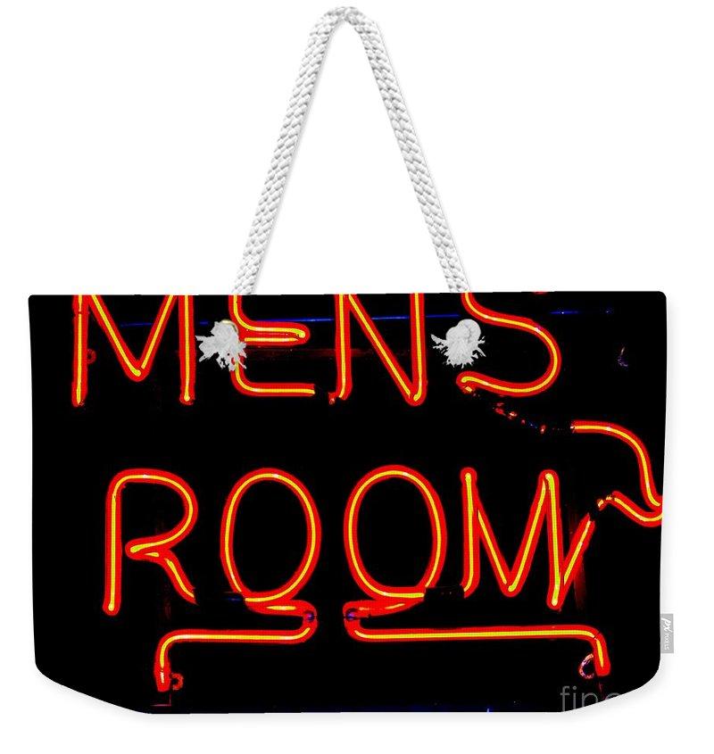 Pop Art Weekender Tote Bag featuring the photograph Men's Room by Ed Weidman