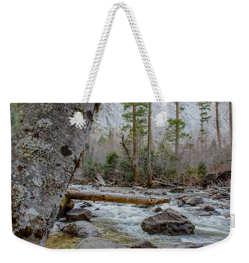 Yosemite Weekender Tote Bag featuring the photograph Merced River From Happy Isles by Terry Garvin