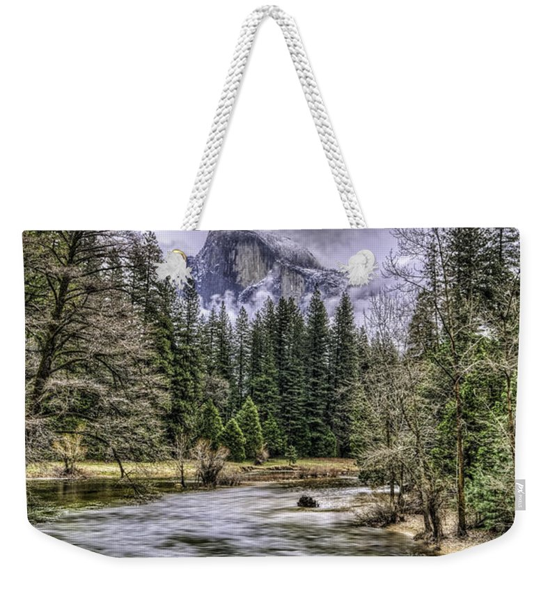 Landscape Weekender Tote Bag featuring the photograph Ascending Clouds by Maria Coulson