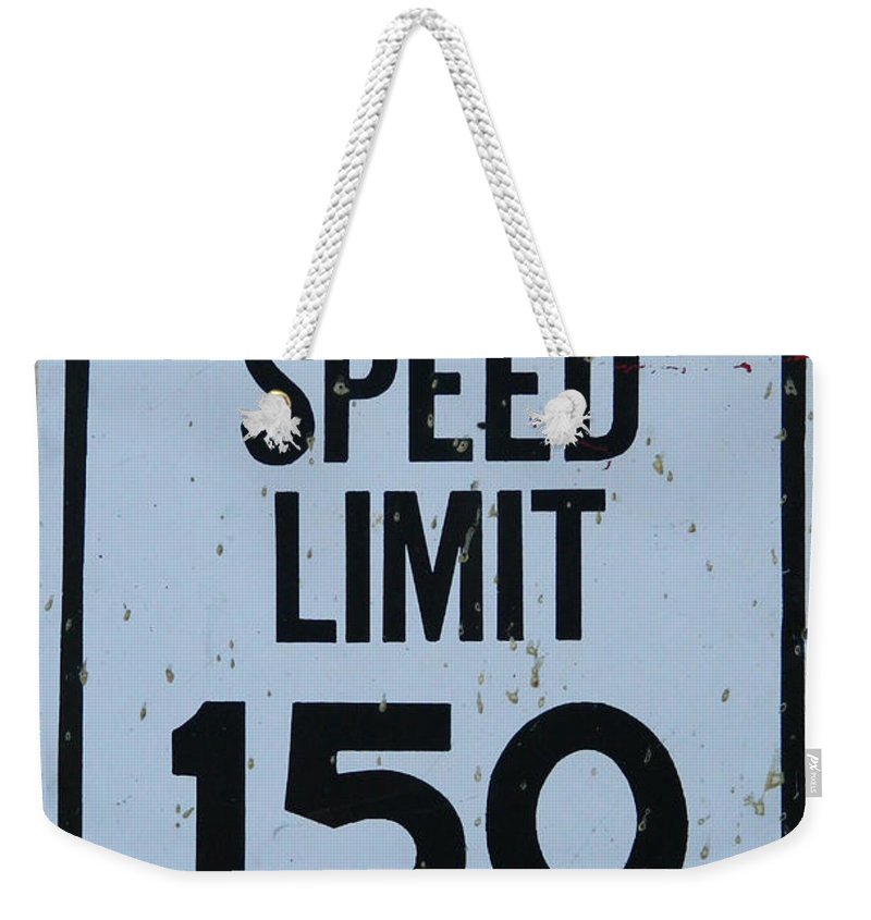 Mercedes Weekender Tote Bag featuring the photograph Mercedes Speed Limit 150 by George Pedro