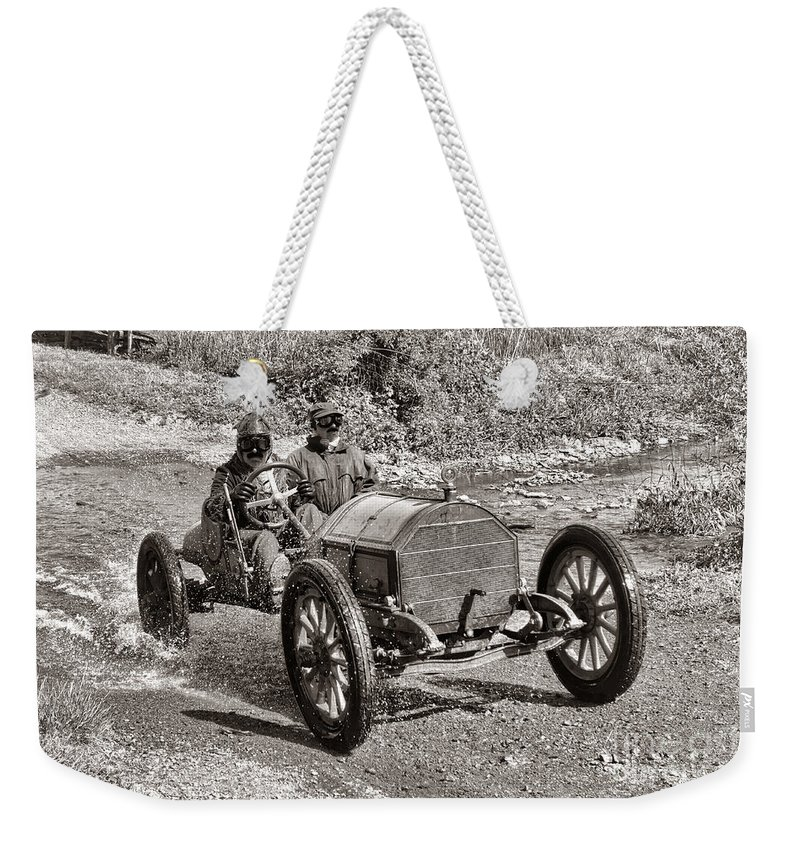 1912 Weekender Tote Bag featuring the photograph Mercer Raceabout by Olivier Le Queinec