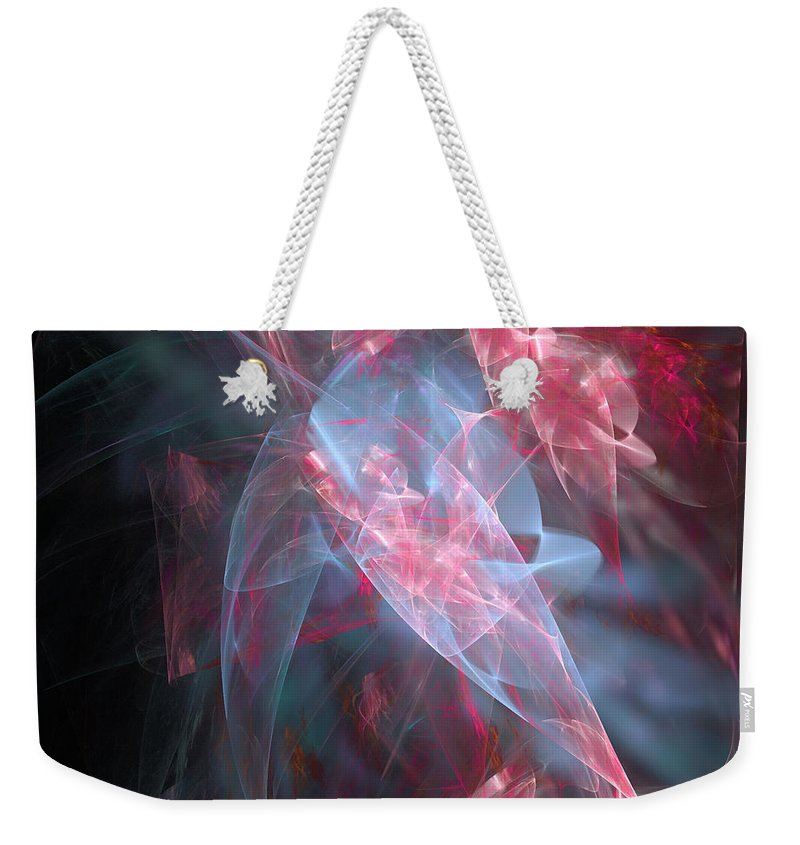 Abstract Weekender Tote Bag featuring the digital art Mercy And Truth Have Met Together Righteousness And Peace Have Kissed by Margie Chapman