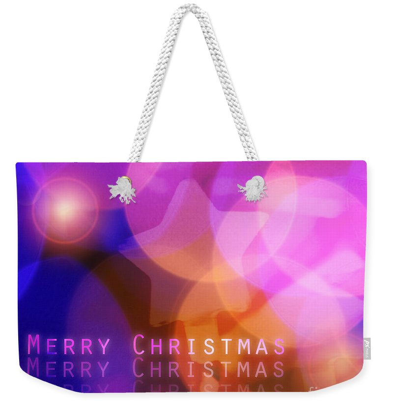 Best Wishes Weekender Tote Bag featuring the digital art Merry Christmas by Edmund Nagele