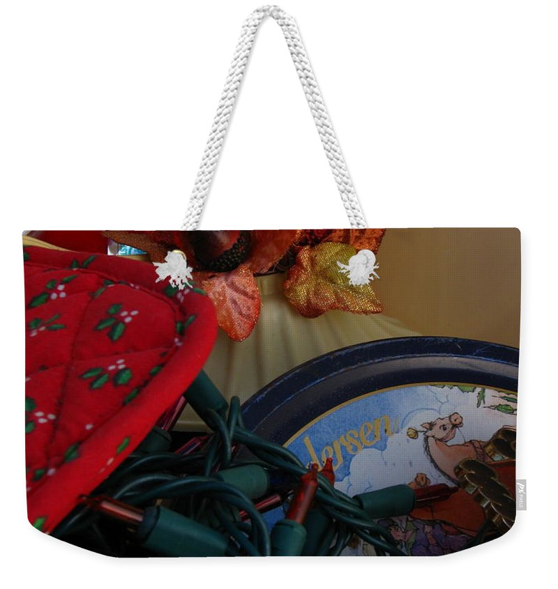 Patzer Weekender Tote Bag featuring the photograph Merry Christmas by Greg Patzer