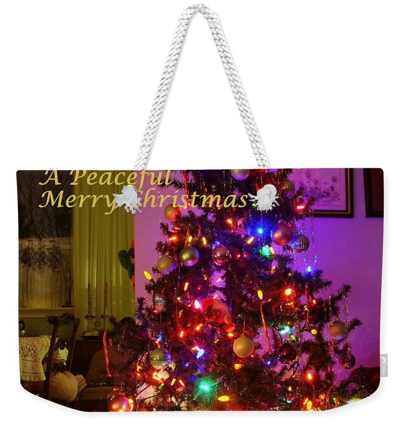 Interior Weekender Tote Bag featuring the photograph Merry Christmas Wish by Lingfai Leung