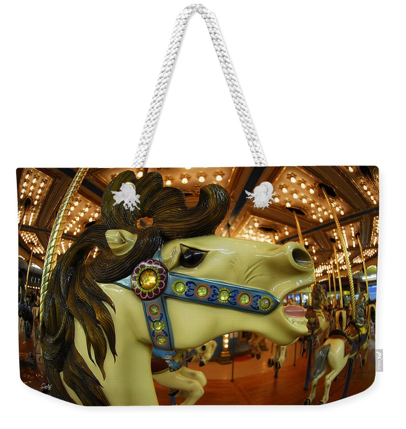 Merry Go Round Weekender Tote Bag featuring the photograph Merry Go Round by Sami Martin