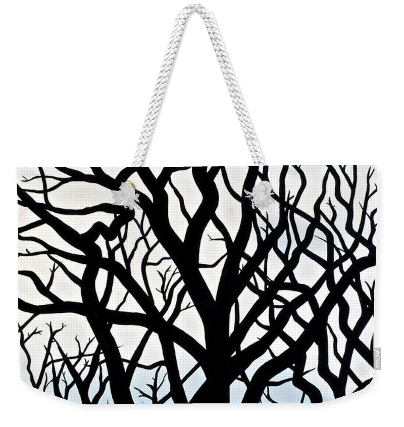 Tree Weekender Tote Bag featuring the painting Mesa Verde by Christine Belt