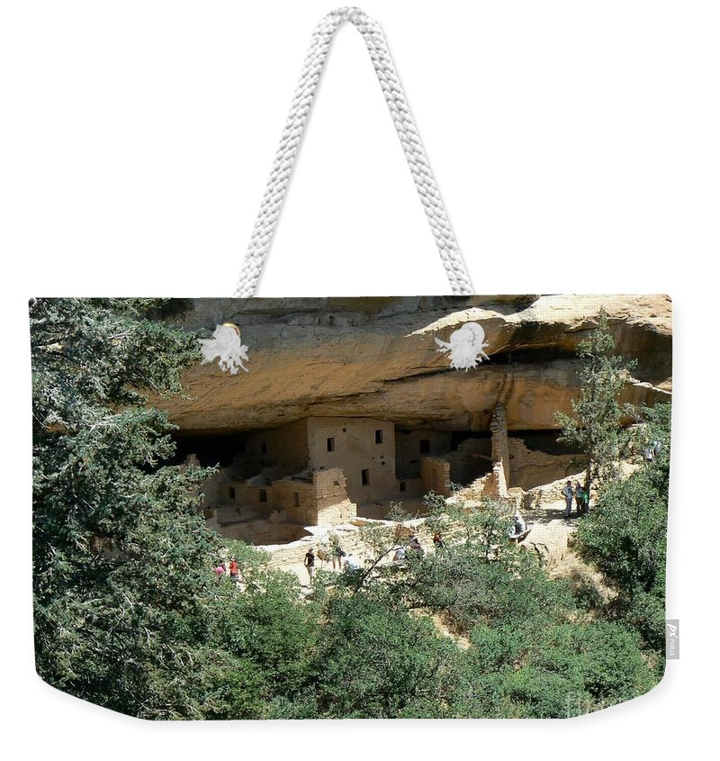 Mesa Verde Weekender Tote Bag featuring the photograph Mesa Verde Cliff Dwellings by Rincon Road Photography By Ben Petersen