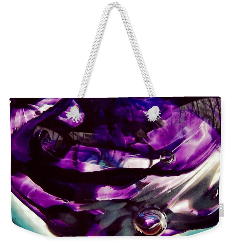 Glass Weekender Tote Bag featuring the photograph Mesmerize Purple II by Angela Rath