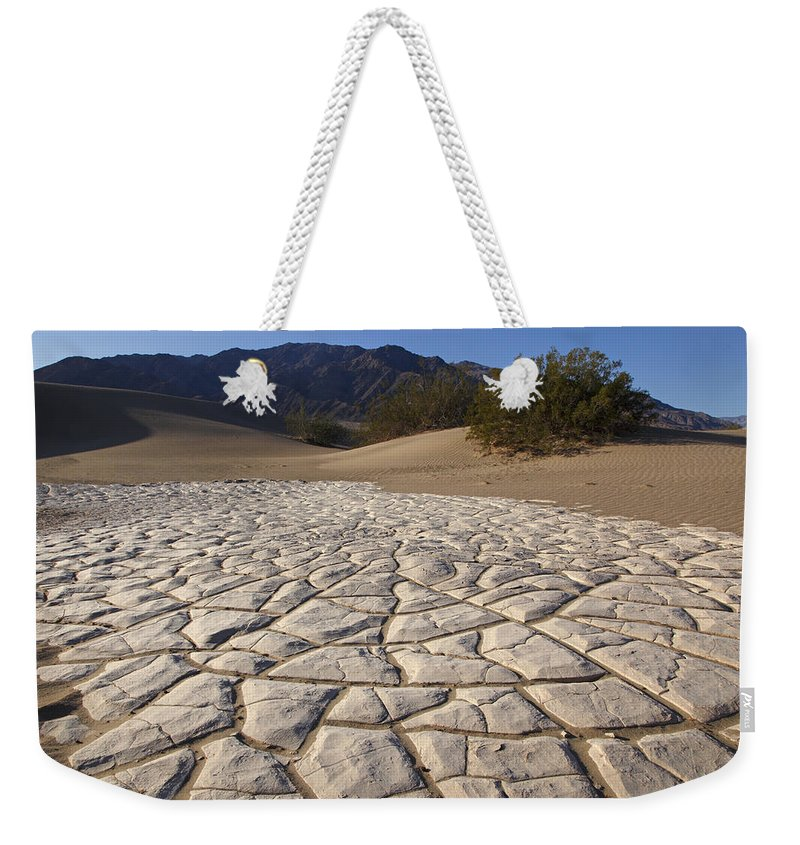 Death Valley Weekender Tote Bag featuring the photograph Mesquite Dune Mosaic by Susan Rovira