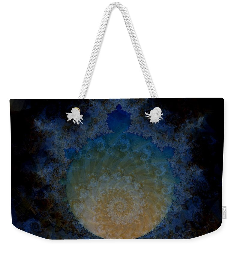 Fractal Art Weekender Tote Bag featuring the digital art Messenger by Elizabeth McTaggart