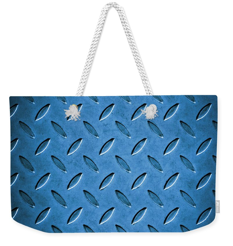 Abstract Weekender Tote Bag featuring the photograph Metal Background by Carlos Caetano