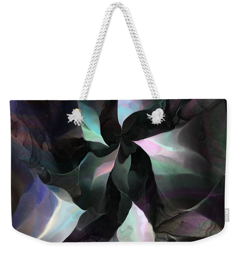 Fine Art Weekender Tote Bag featuring the digital art Metallica by David Lane