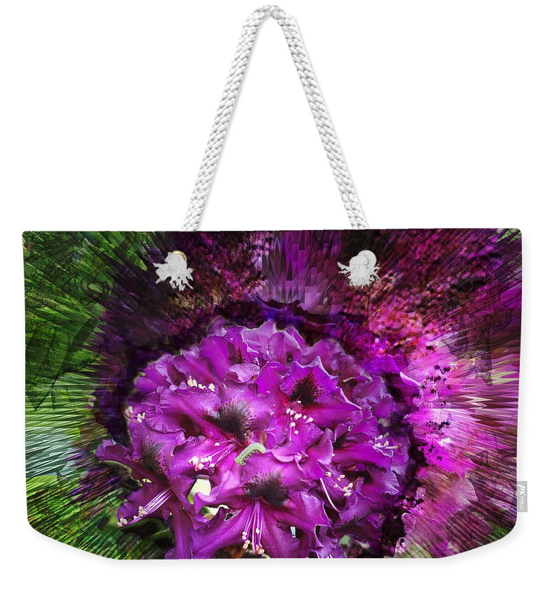 Flower Weekender Tote Bag featuring the photograph Metamorphosis by Belinda Greb