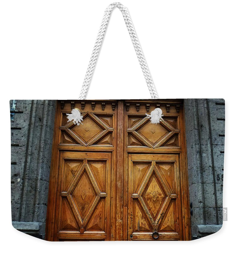 Mexico Weekender Tote Bag featuring the photograph Mexican Door 68 by Xueling Zou