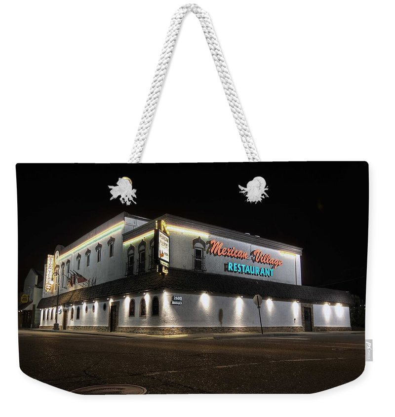 Mexican Village Restaurant Weekender Tote Bag featuring the photograph Mexican Village Restaurant Detroit Mi by A And N Art