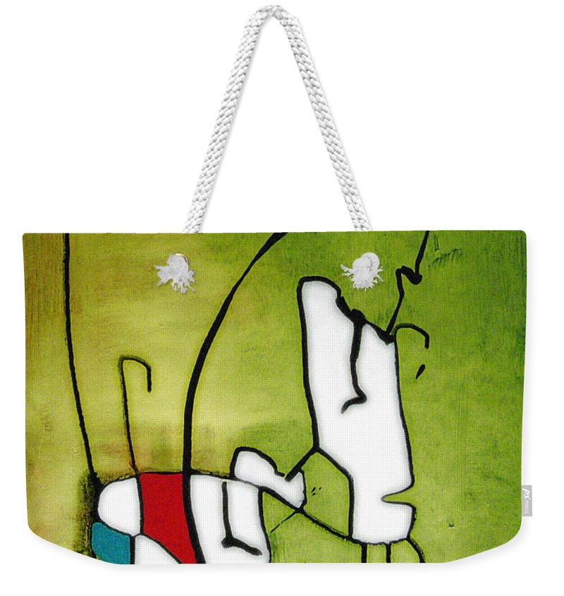 Painting Weekender Tote Bag featuring the painting Mi Caballo 2 by Jeff Barrett