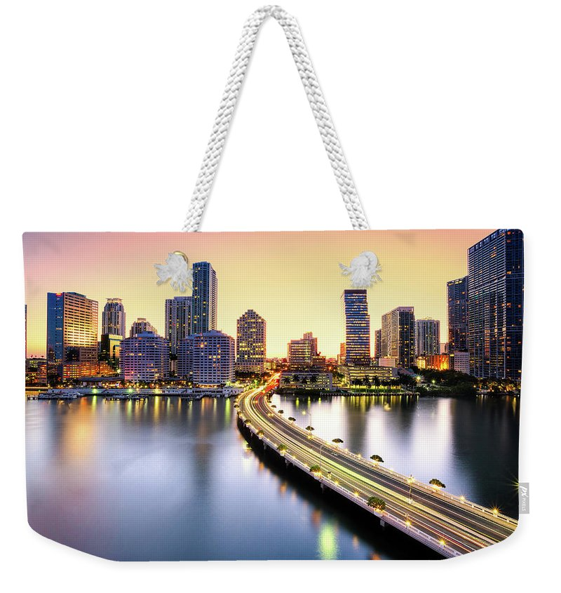Hotel Weekender Tote Bag featuring the photograph Miami by Eddie Lluisma