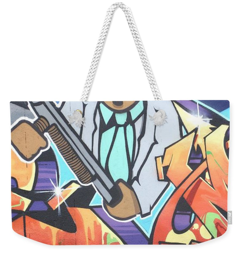 Eyes Weekender Tote Bag featuring the photograph Miami Rat by Chuck Hicks