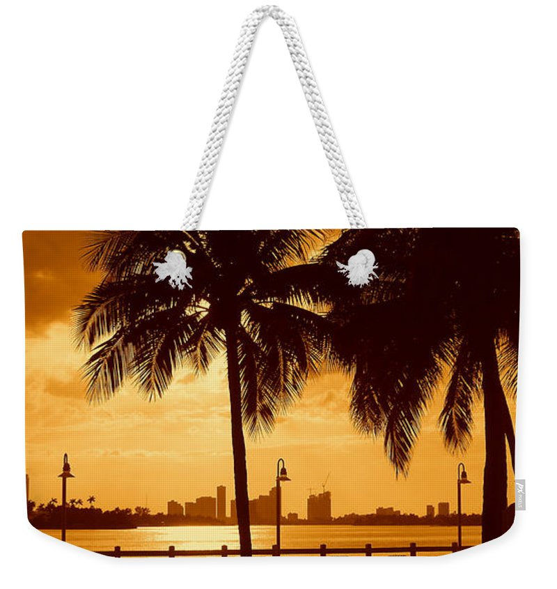 Miami Romance Print Weekender Tote Bag featuring the photograph Miami South Beach Romance II by Monique's Fine Art