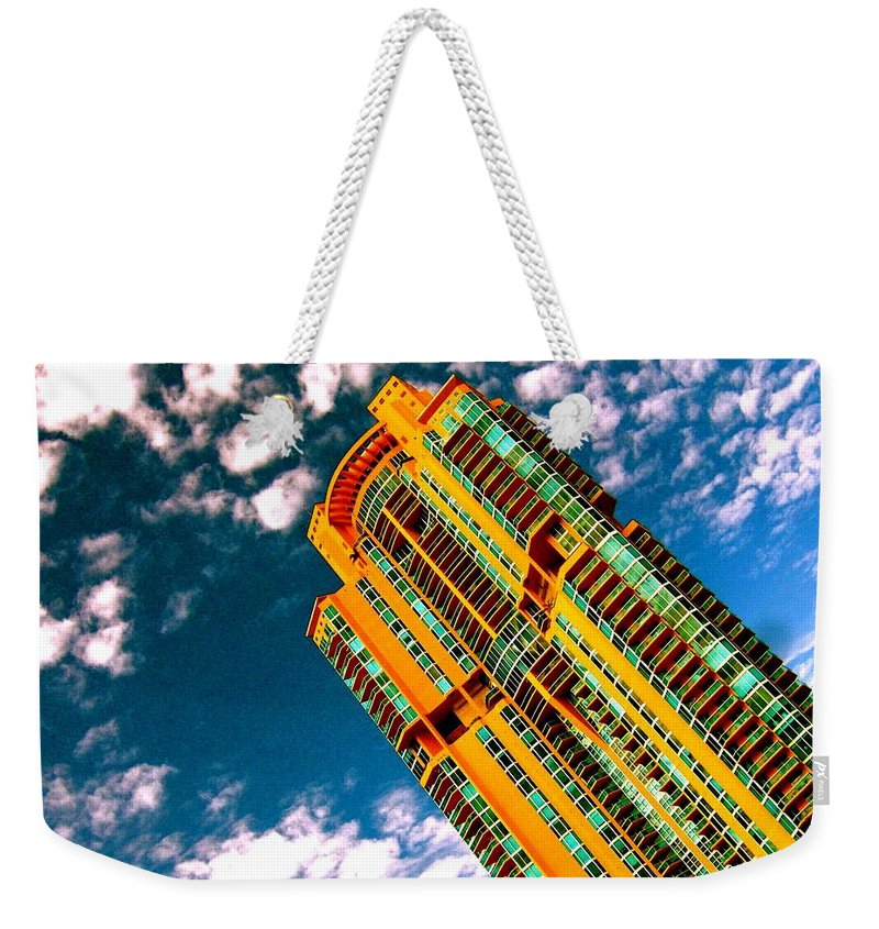 Miami Prints Weekender Tote Bag featuring the photograph Miami South Pointe by Monique's Fine Art