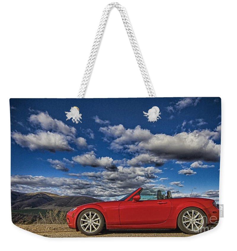 Mazda Miata Mx 5 Weekender Tote Bag featuring the photograph Miata by Jason Abando