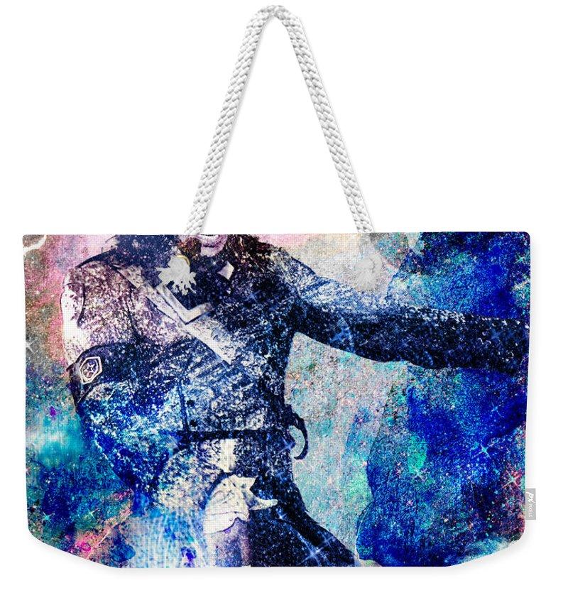 Rock Weekender Tote Bag featuring the painting Michael Jackson Original Painting by Ryan Rock Artist