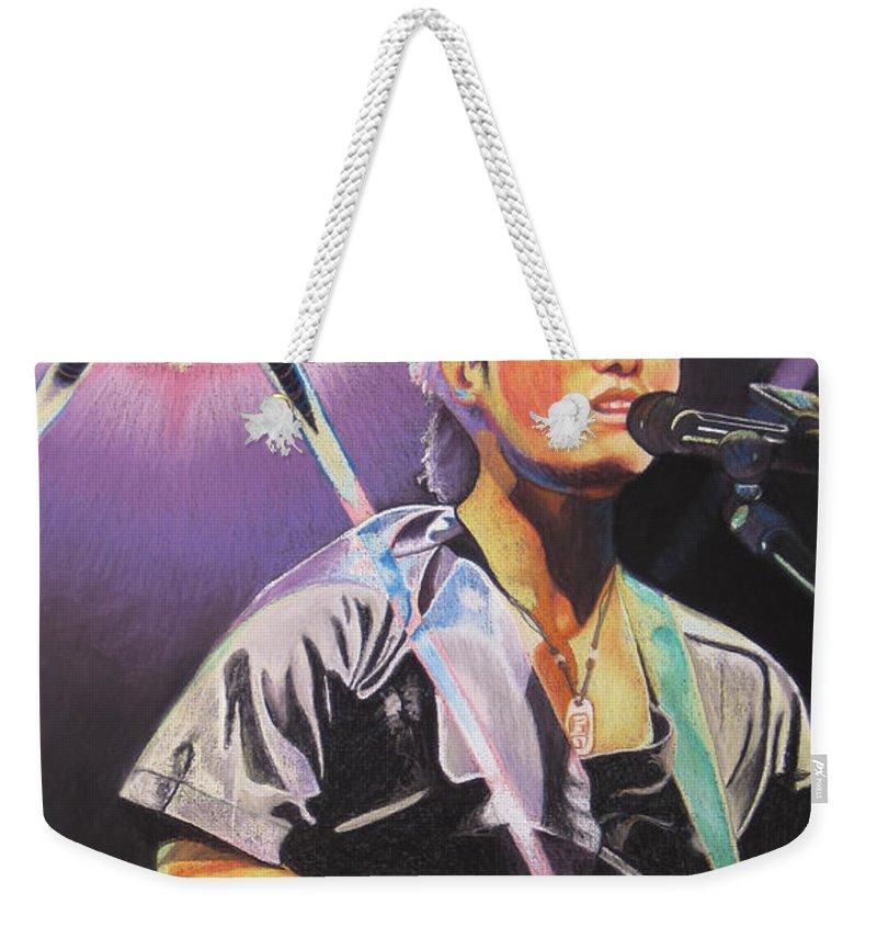 Michael Kang Weekender Tote Bag featuring the drawing Micheal Kang by Joshua Morton
