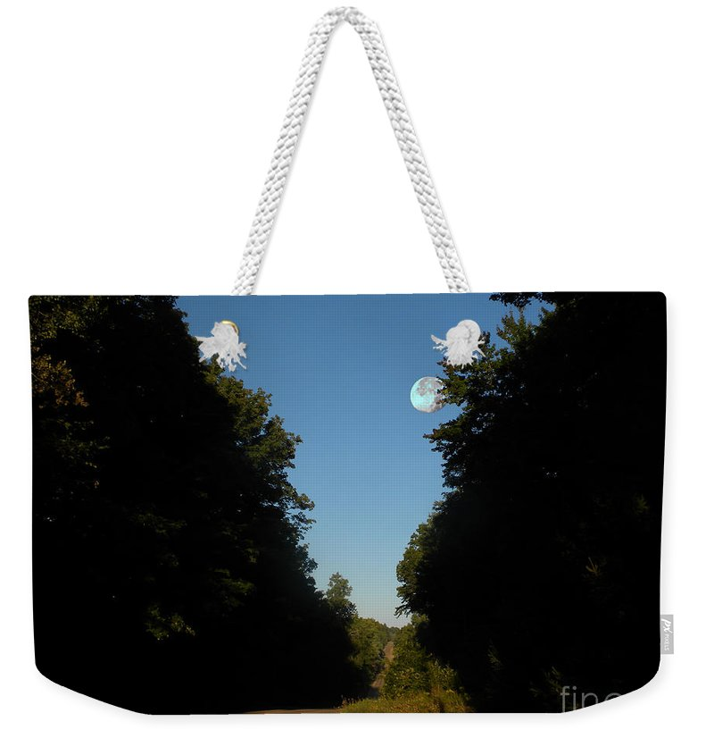 Summer Sunrise Weekender Tote Bag featuring the photograph Michigan Country Road by Thomas Woolworth