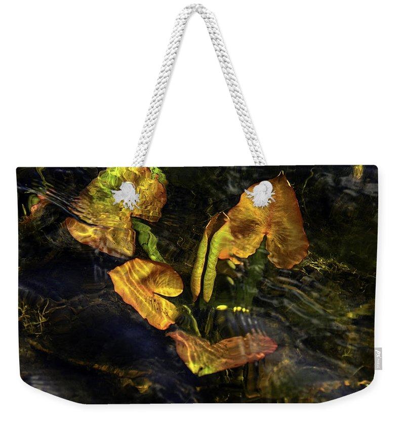 Under Weekender Tote Bag featuring the photograph Michigan Fresh Water Ripples by LeeAnn McLaneGoetz McLaneGoetzStudioLLCcom