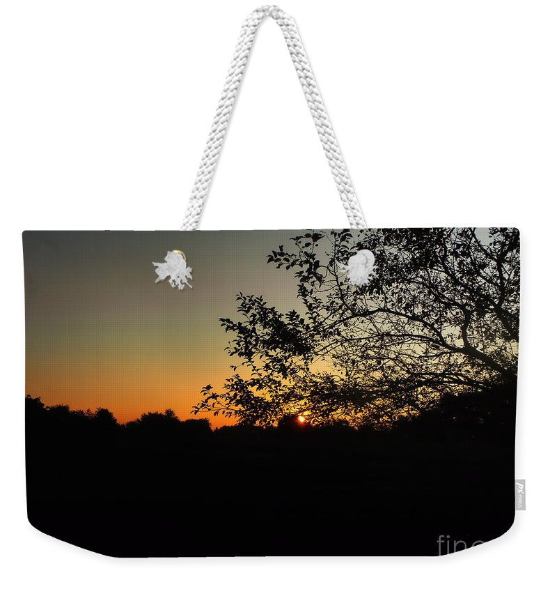 Summer Sunrise Weekender Tote Bag featuring the photograph Michigan Sunrise 01 by Thomas Woolworth