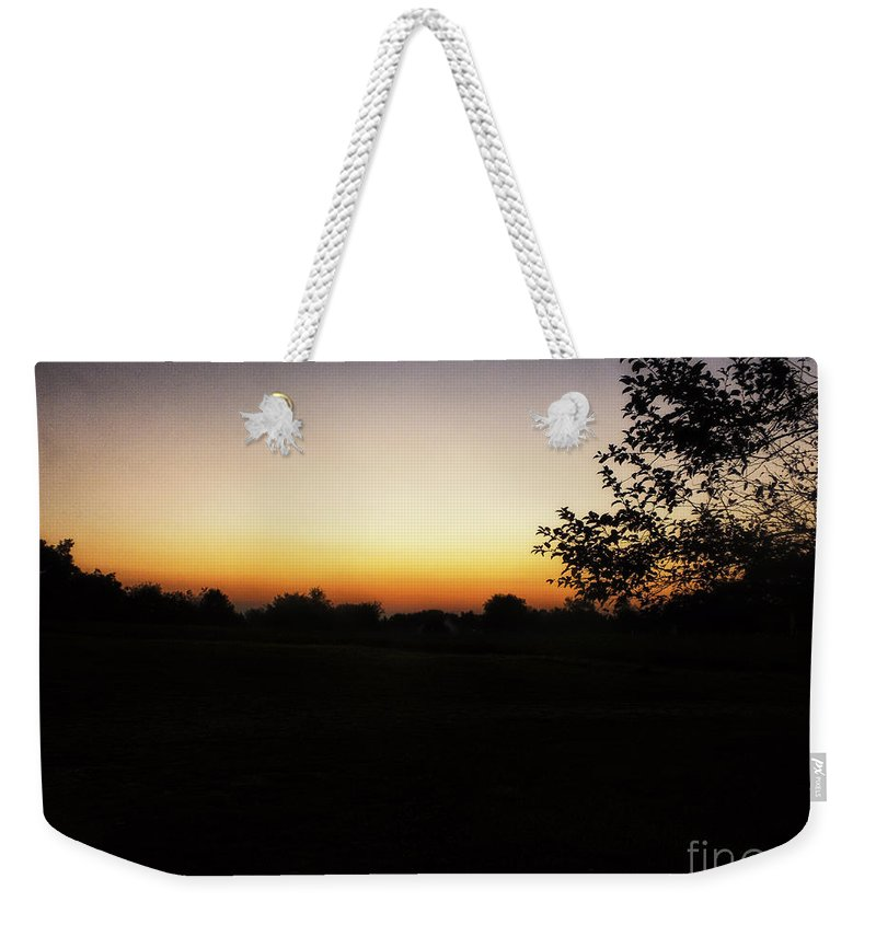 Summer Sunrise Weekender Tote Bag featuring the photograph Michigan Sunrise 02 by Thomas Woolworth