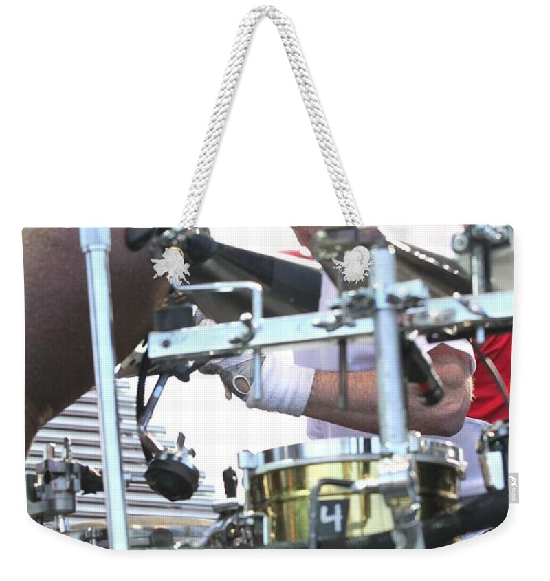 Photos For Sale Weekender Tote Bag featuring the photograph Mickey Hart Band by Concert Photos