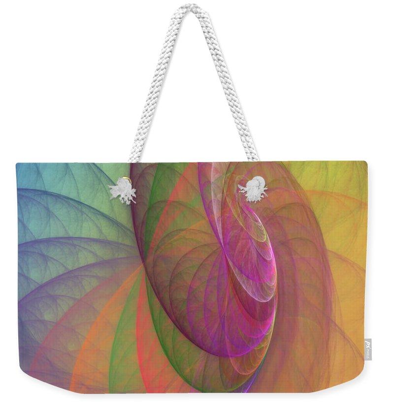 Fractal Weekender Tote Bag featuring the digital art Mid-afternoon Rest by Angela Stanton
