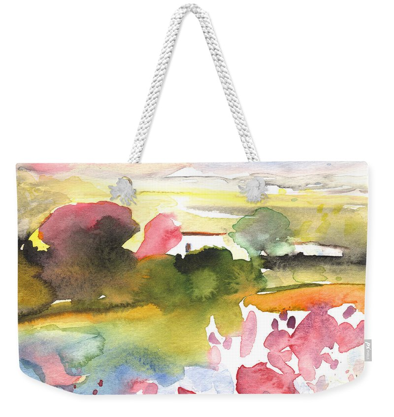 Aquarelle Weekender Tote Bag featuring the painting Midday 33 by Miki De Goodaboom