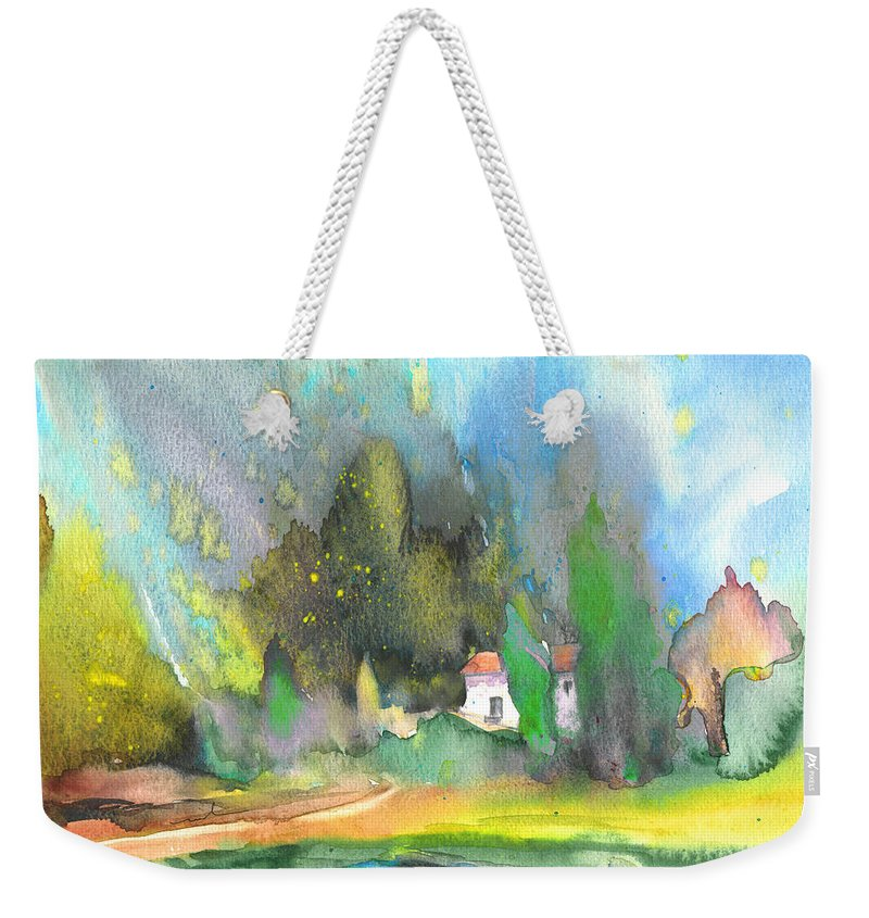 Aquarelle Weekender Tote Bag featuring the painting Midday 36 by Miki De Goodaboom