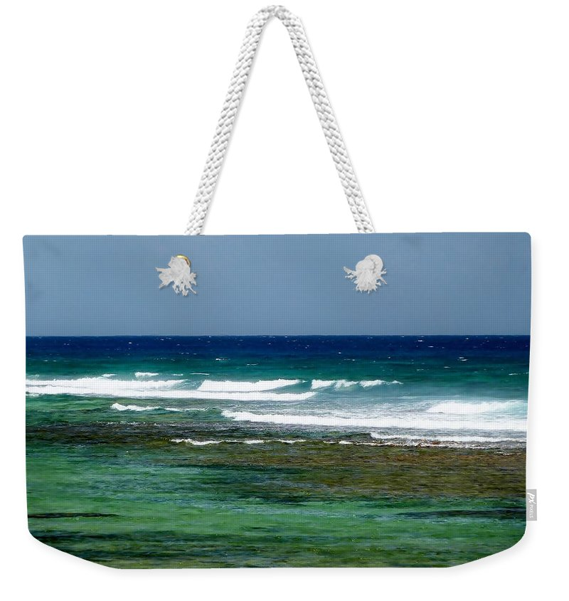 Color Weekender Tote Bag featuring the photograph Midday Breakers by Amar Sheow