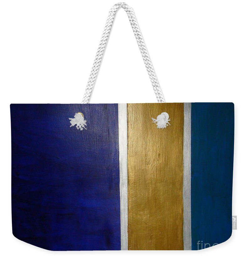 Seascape Weekender Tote Bag featuring the painting 'midi' South Of France by Fereshteh Stoecklein