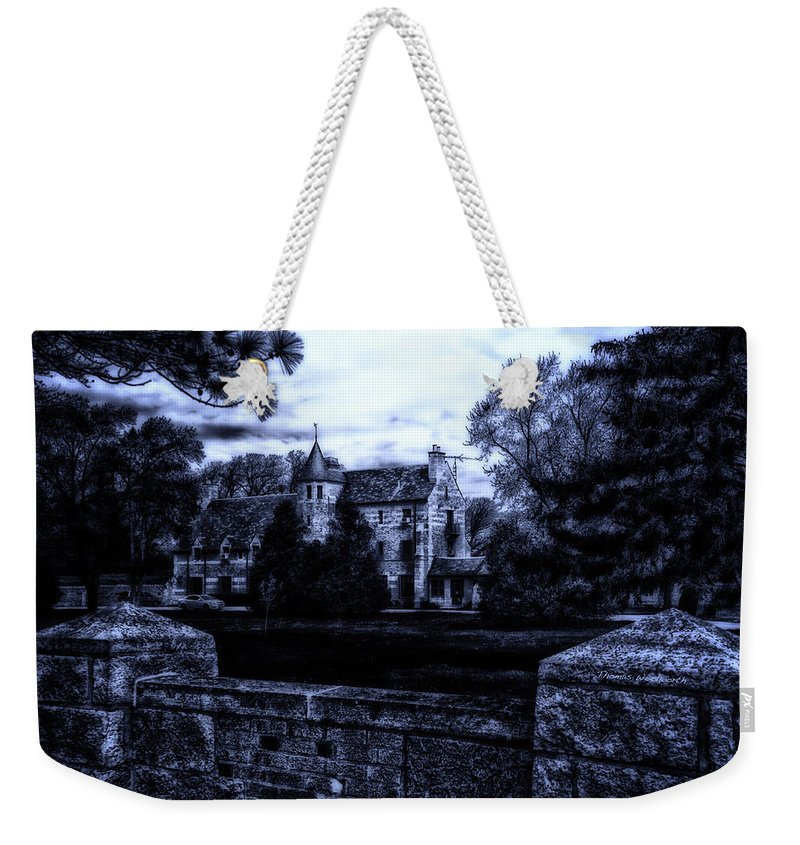 Surrealist Weekender Tote Bag featuring the photograph Midnight At The Prison by Thomas Woolworth