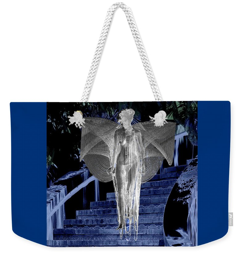 Midnight Weekender Tote Bag featuring the digital art Midnight Garden by Lisa Yount