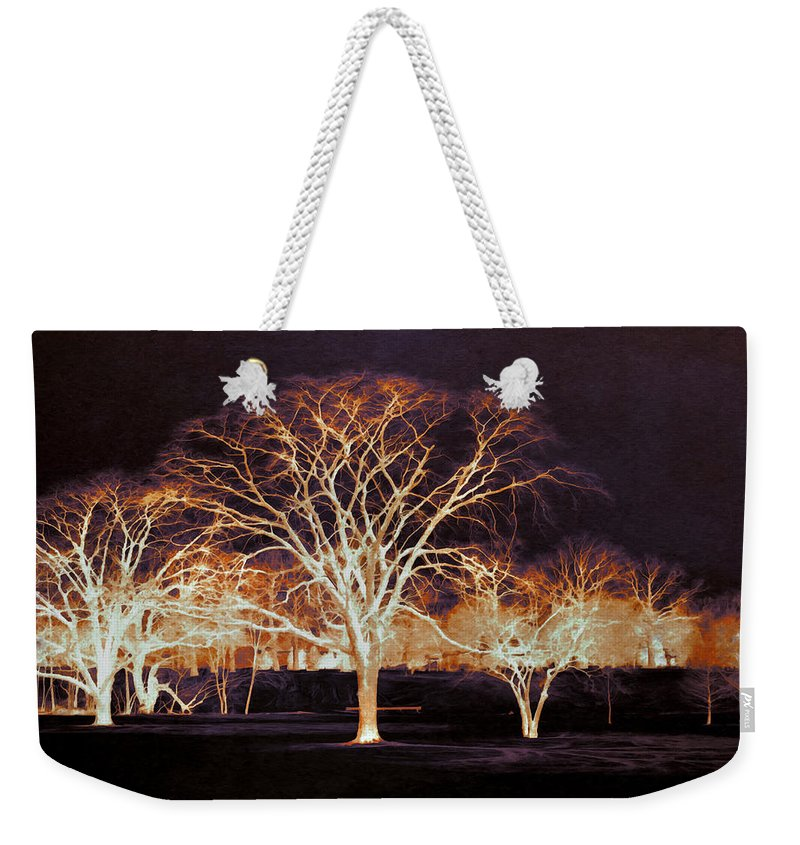 Glowing Weekender Tote Bag featuring the photograph Midnight Glow by Shawna Rowe