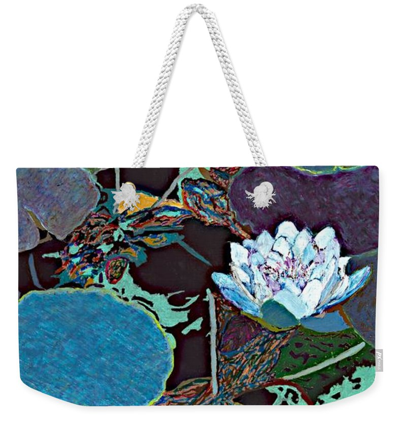 Landscape Weekender Tote Bag featuring the painting Midnight Moonglow by Allan P Friedlander