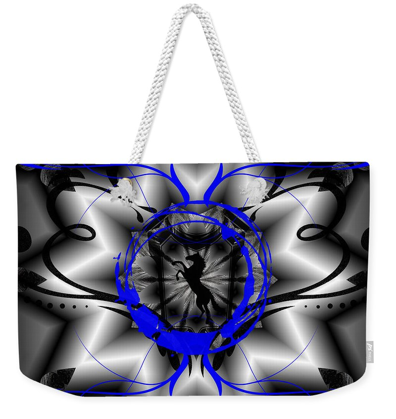 Midnight Weekender Tote Bag featuring the digital art Midnight Rider by Michael Damiani