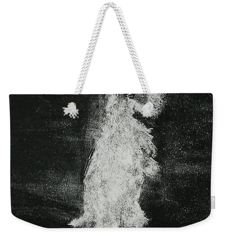 Monotype Weekender Tote Bag featuring the mixed media Midnight Sonata by Cori Solomon
